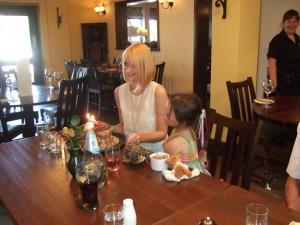 Caroline and cake