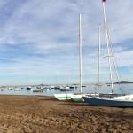 Boats on a tranquil Mar Menor